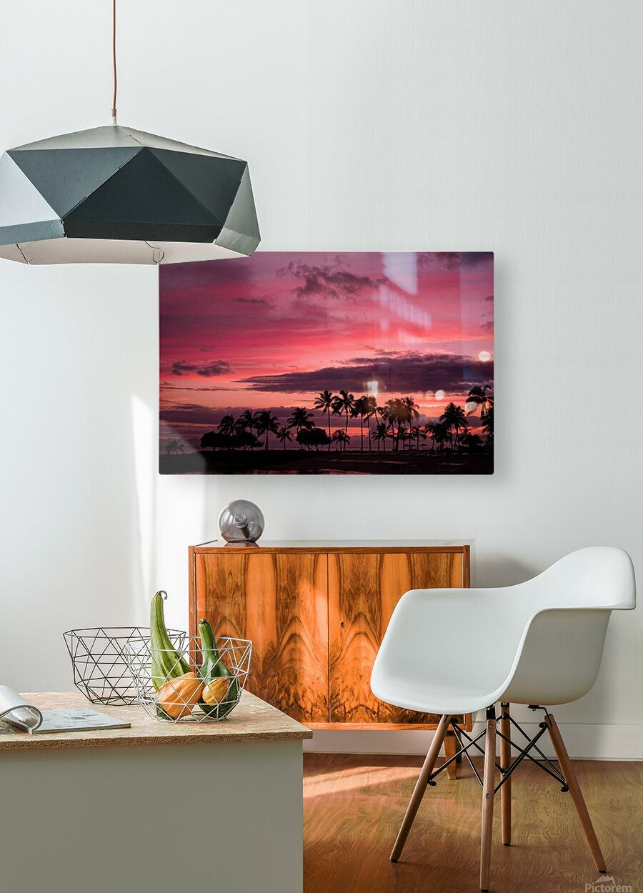Ease into the Night  HD Metal print with Floating Frame on Back