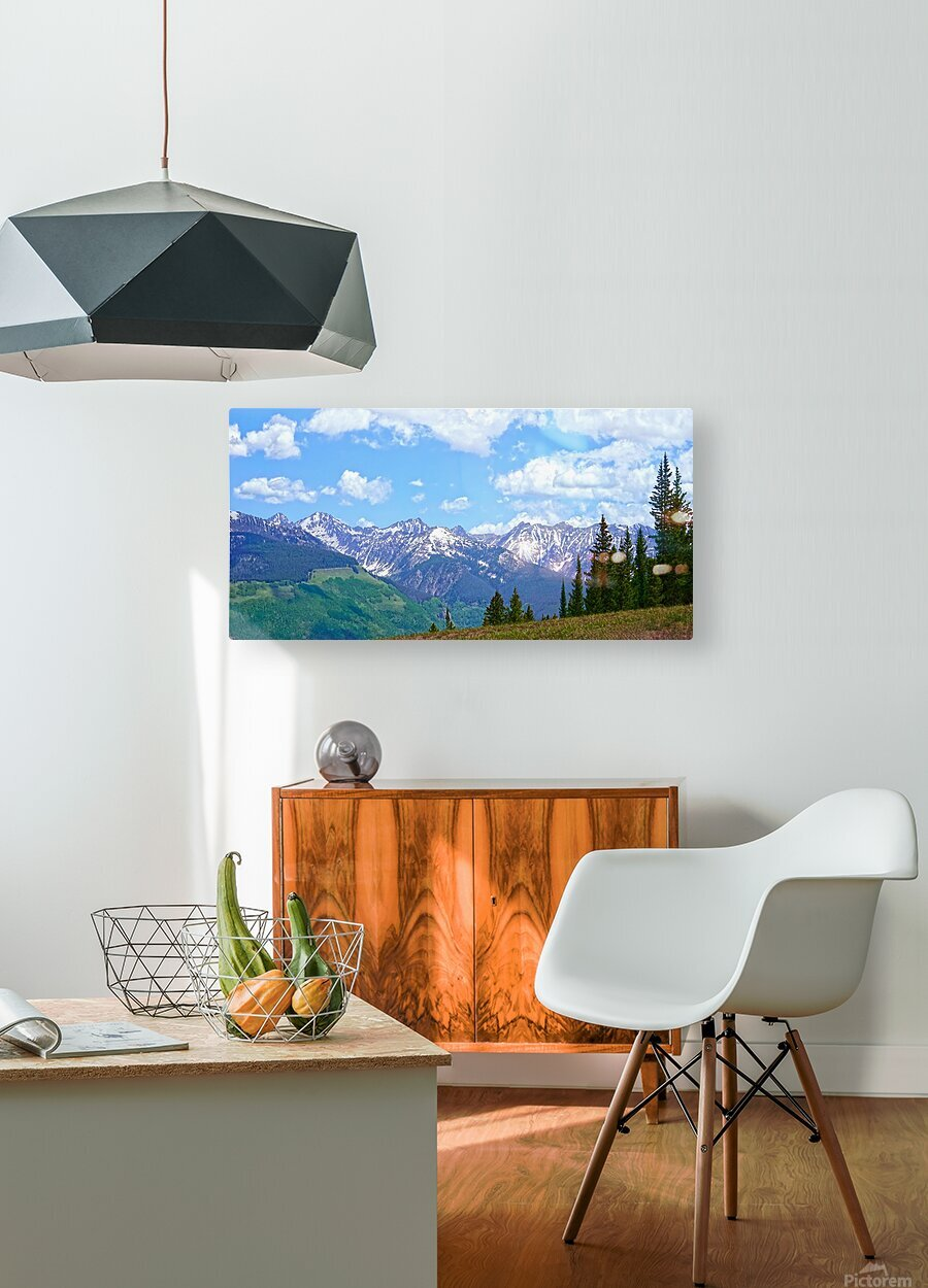 Rocky Mountain High Colorado Panorama   HD Metal print with Floating Frame on Back