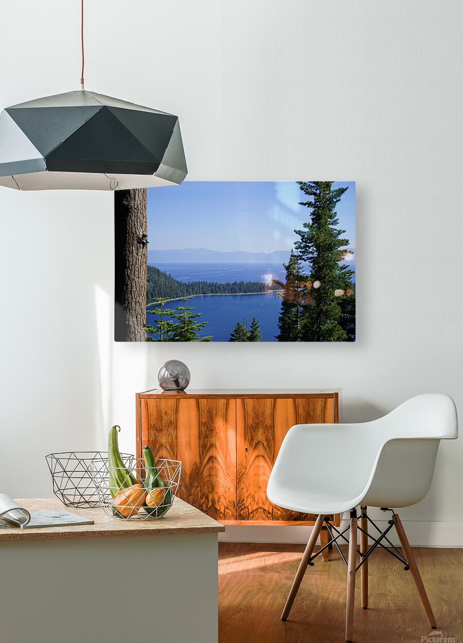Lake Tahoe  HD Metal print with Floating Frame on Back