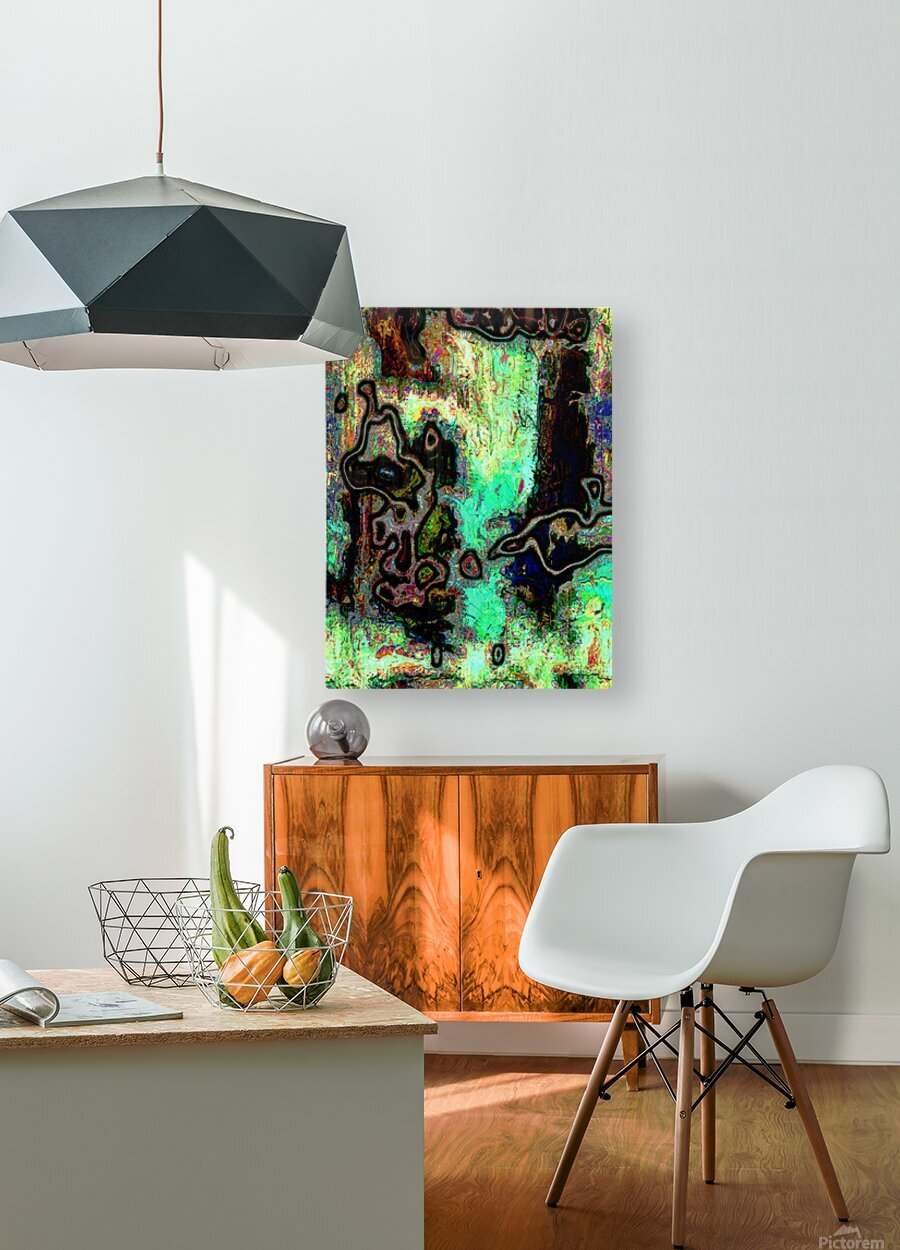 Mossi  HD Metal print with Floating Frame on Back