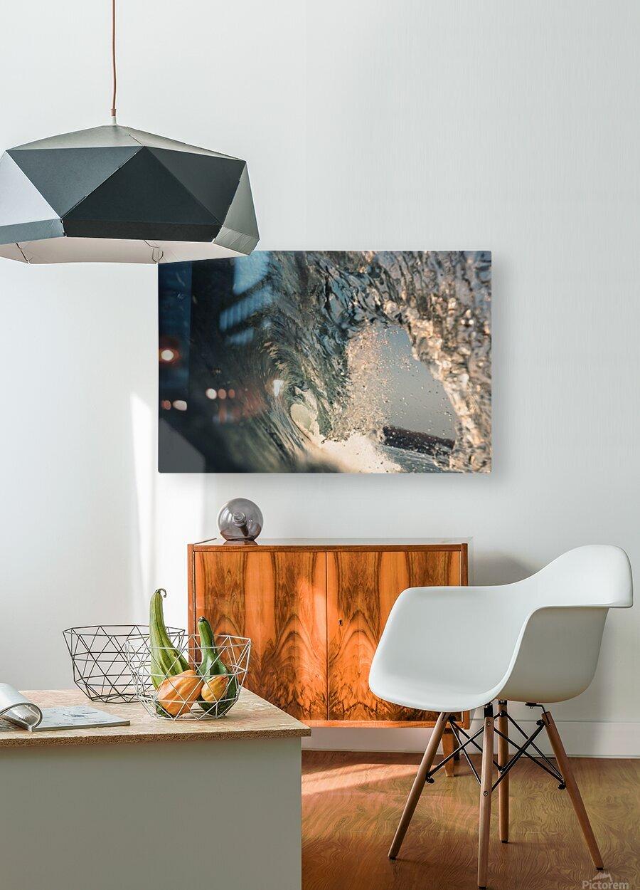 Crystal wave  HD Metal print with Floating Frame on Back