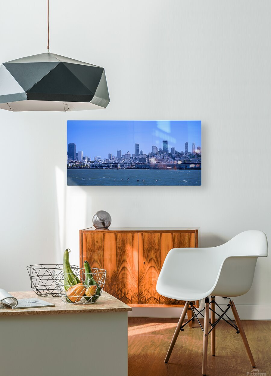 Blue Skies over San Francisco   HD Metal print with Floating Frame on Back