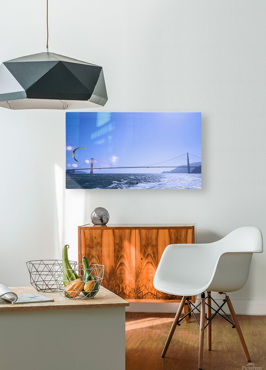 Wind Surf the Bay @ San Francisco  HD Metal print with Floating Frame on Back