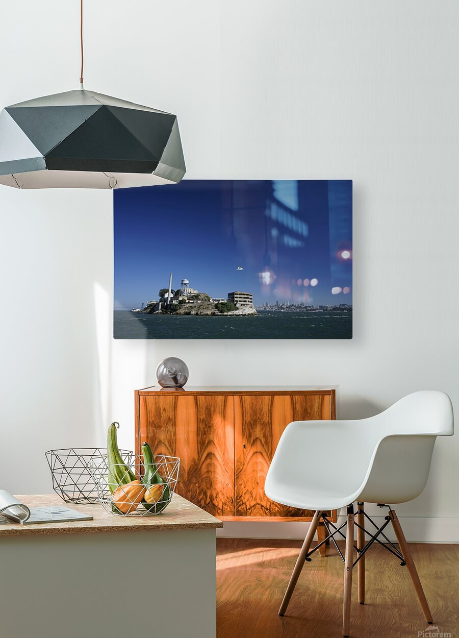 Alcatraz   The Rock @ San Francisco Bay  HD Metal print with Floating Frame on Back