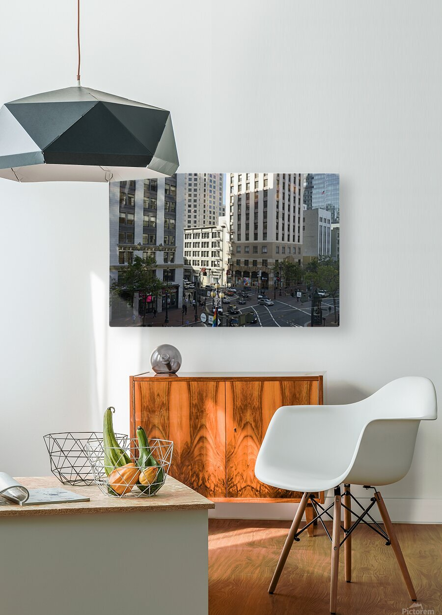 Snapshot in Time @ San Francisco Financial District  HD Metal print with Floating Frame on Back
