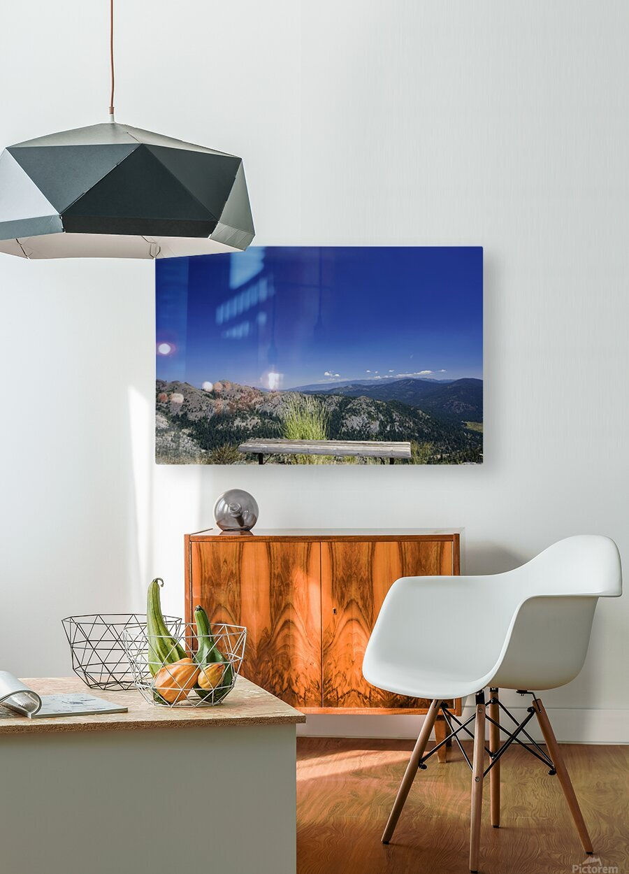 Open Seating  HD Metal print with Floating Frame on Back