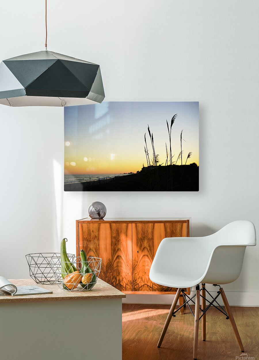 Atlantic Sunset @ Myrtle Beach  HD Metal print with Floating Frame on Back