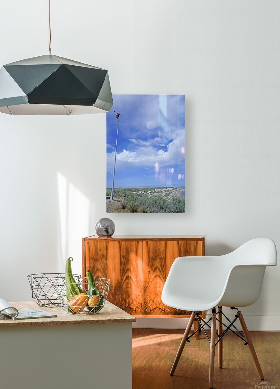 The Great Salt Lake 5 of 7  HD Metal print with Floating Frame on Back
