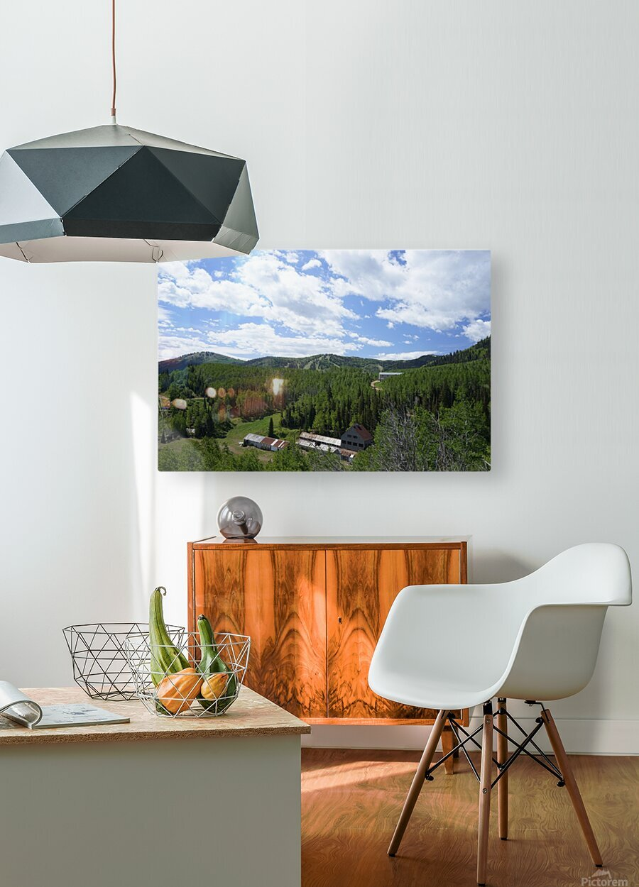 Back Country Utah 1 of 6  HD Metal print with Floating Frame on Back