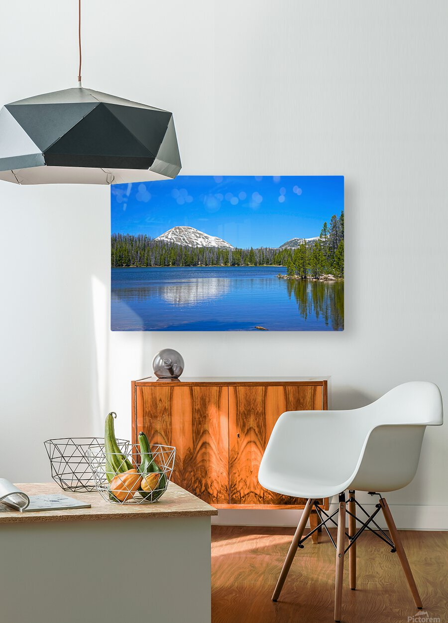 On The Road to Mirror Lake 5 of 5  HD Metal print with Floating Frame on Back