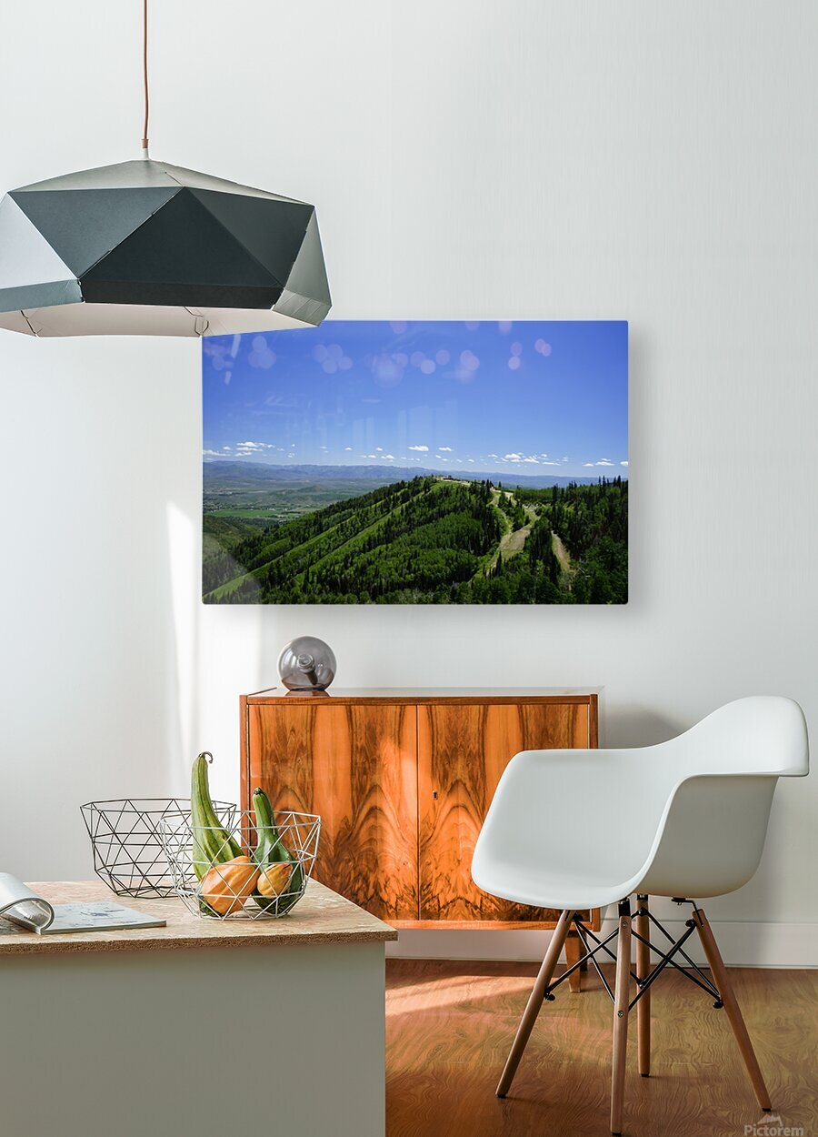 Hike Park City  HD Metal print with Floating Frame on Back