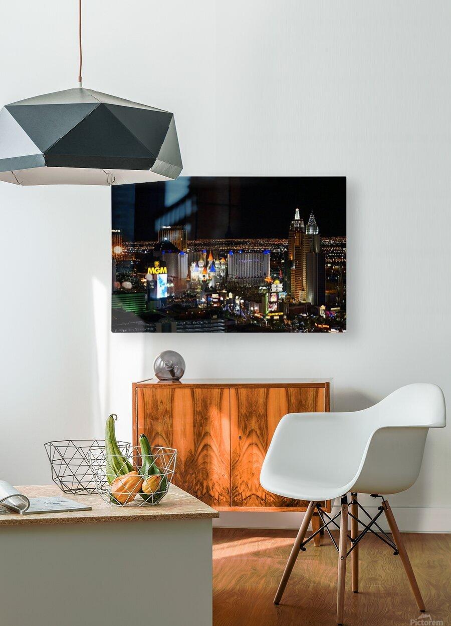 Viva Las Vegas  HD Metal print with Floating Frame on Back