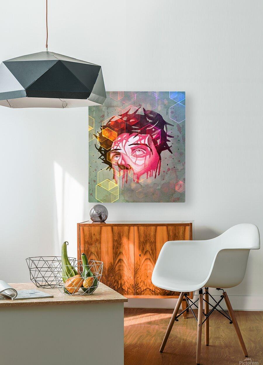 jesus 1  HD Metal print with Floating Frame on Back
