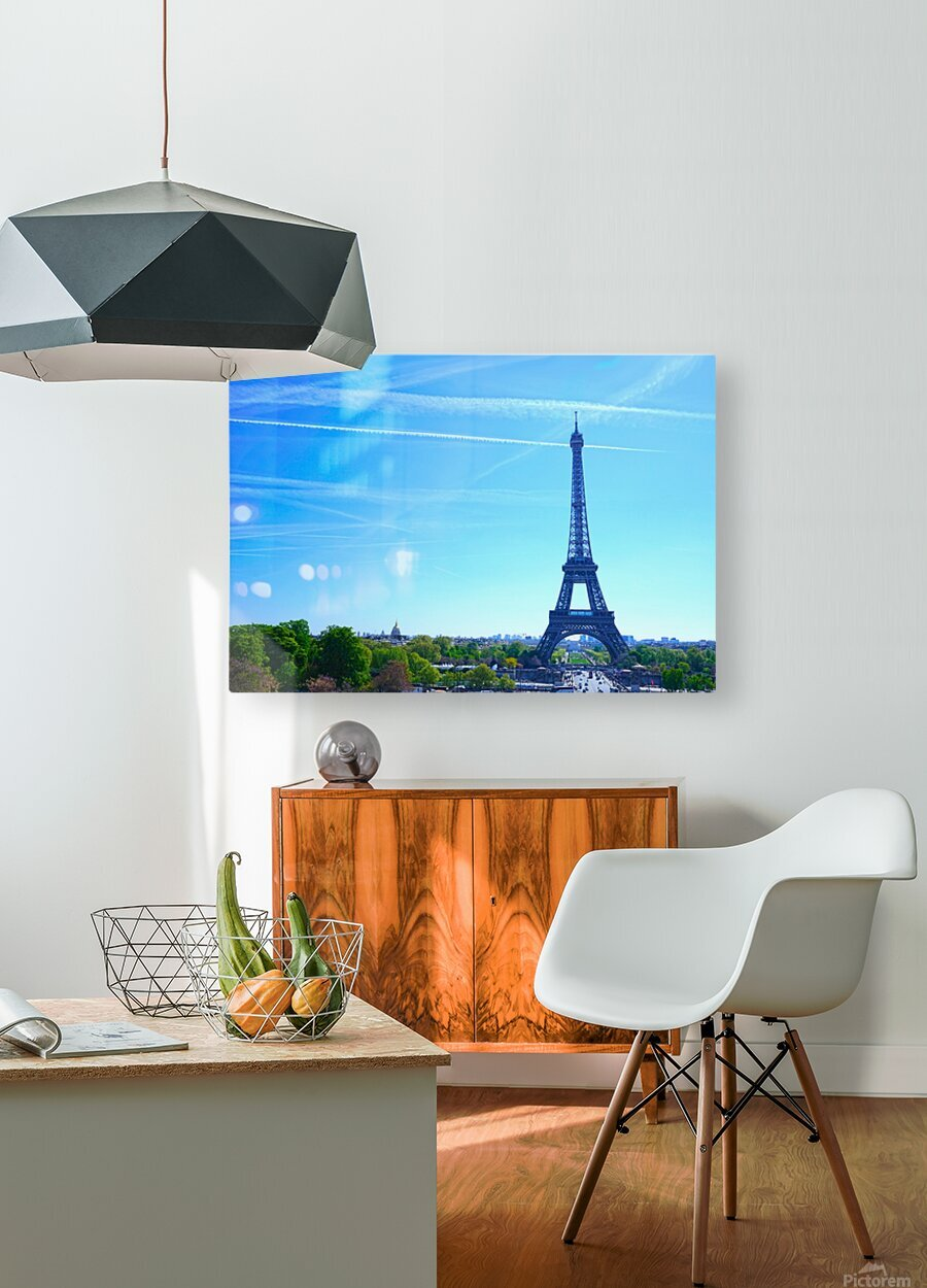 Eiffel Tower  HD Metal print with Floating Frame on Back