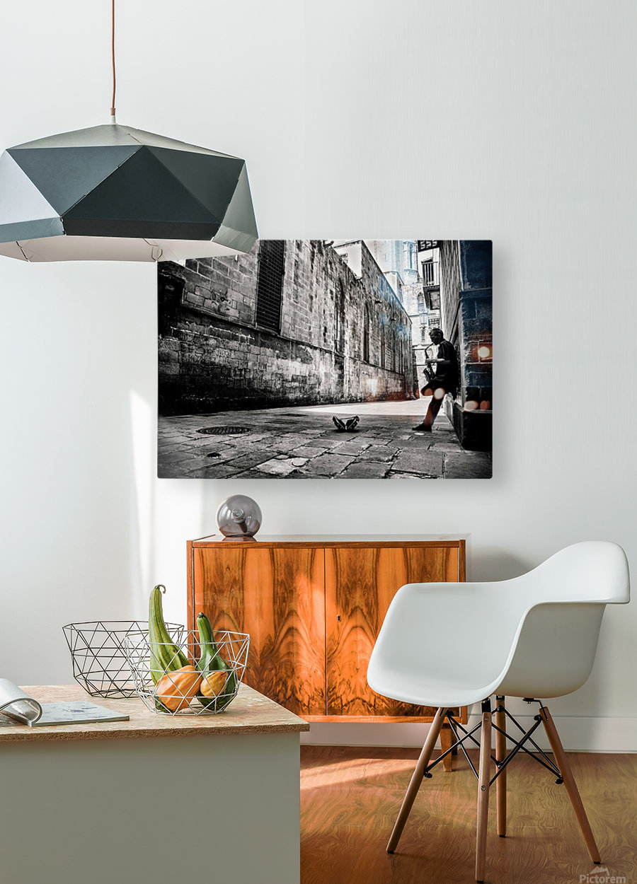 Silent Street  HD Metal print with Floating Frame on Back