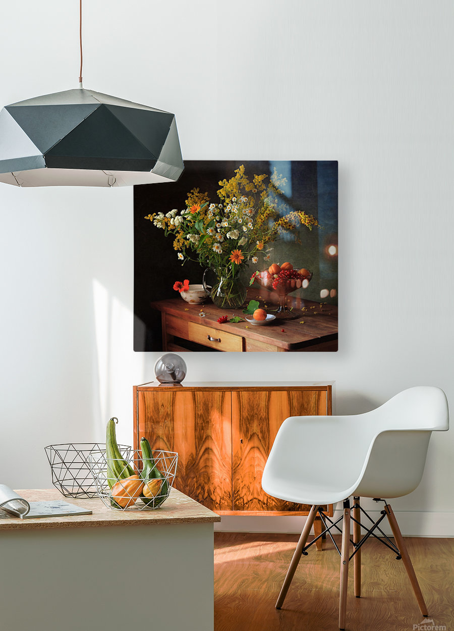 flower by    HD Metal print with Floating Frame on Back