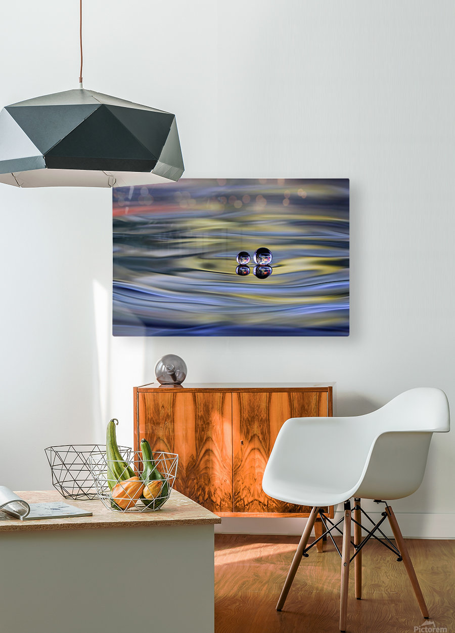 oO  HD Metal print with Floating Frame on Back