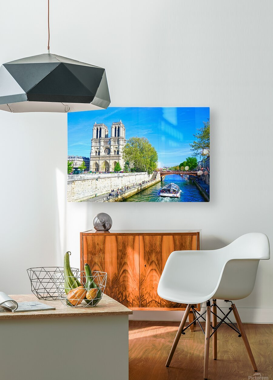 Paris Snapshot in Time 8 of 8  HD Metal print with Floating Frame on Back