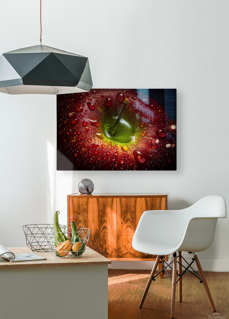 Red Apple  HD Metal print with Floating Frame on Back