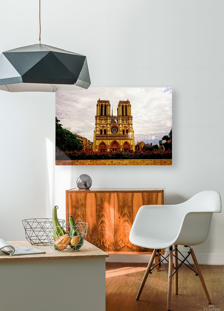 Jeanne d Arc and Saint Croix Cathedral at Orleans   France 1 of 7  HD Metal print with Floating Frame on Back