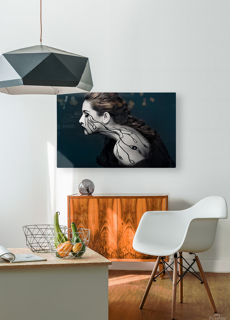 Eye to Eyes by Yudhistira Yogasara   HD Metal print with Floating Frame on Back