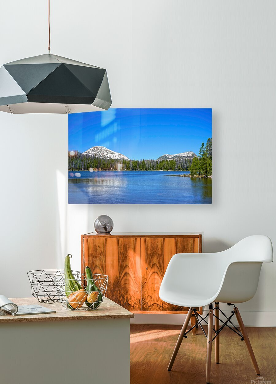 Mirror Lake  HD Metal print with Floating Frame on Back