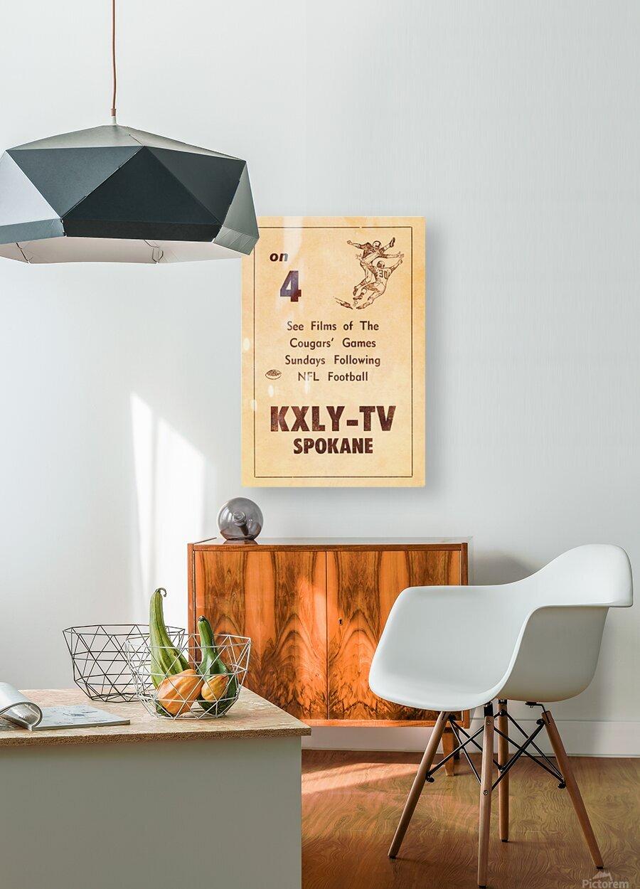 1962 kxly tv spokane football ad  HD Metal print with Floating Frame on Back