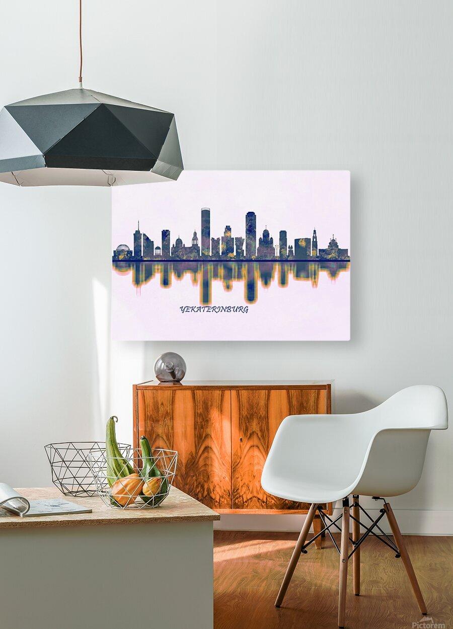 Yekaterinburg Skyline  HD Metal print with Floating Frame on Back
