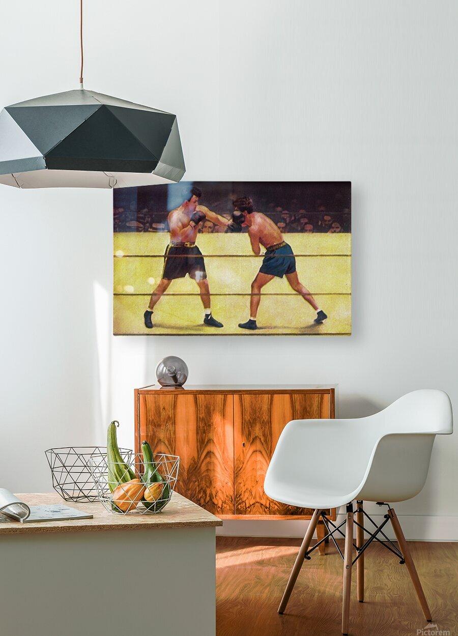 Vintage Boxing Art  HD Metal print with Floating Frame on Back