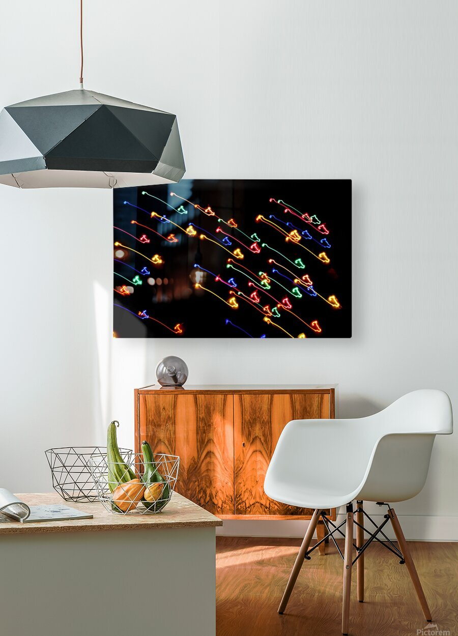 TRAVELERS   HD Metal print with Floating Frame on Back