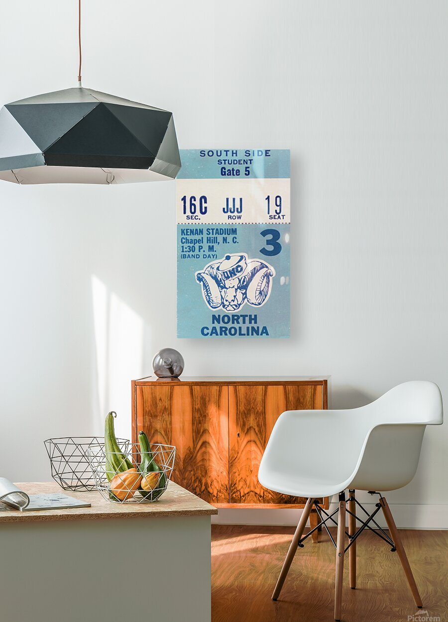 1978 North Carolina Student Ticket  HD Metal print with Floating Frame on Back