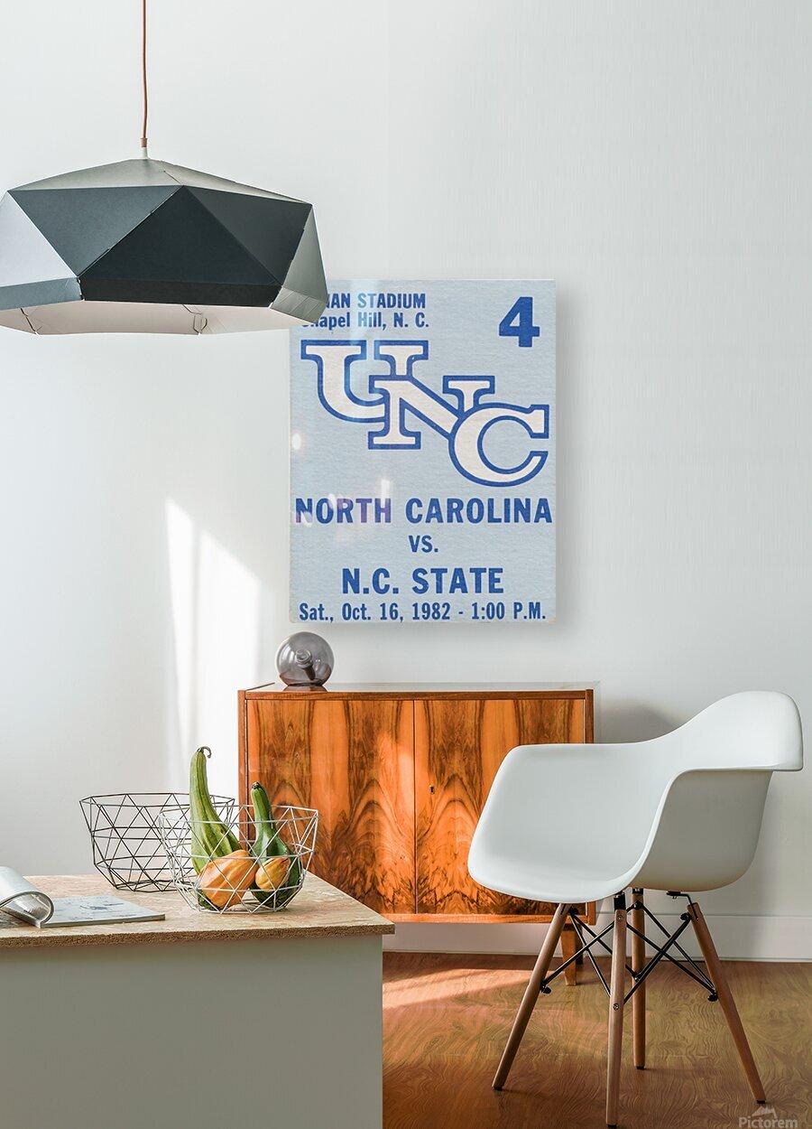 1982 North Carolina vs. NC State  HD Metal print with Floating Frame on Back