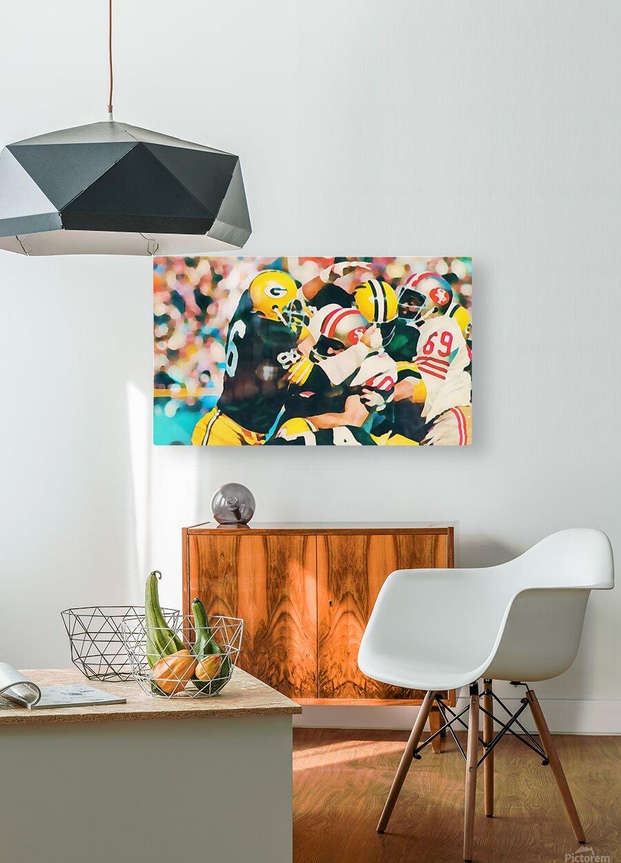 Vintage Green Bay Packers Art Digital Painting  HD Metal print with Floating Frame on Back