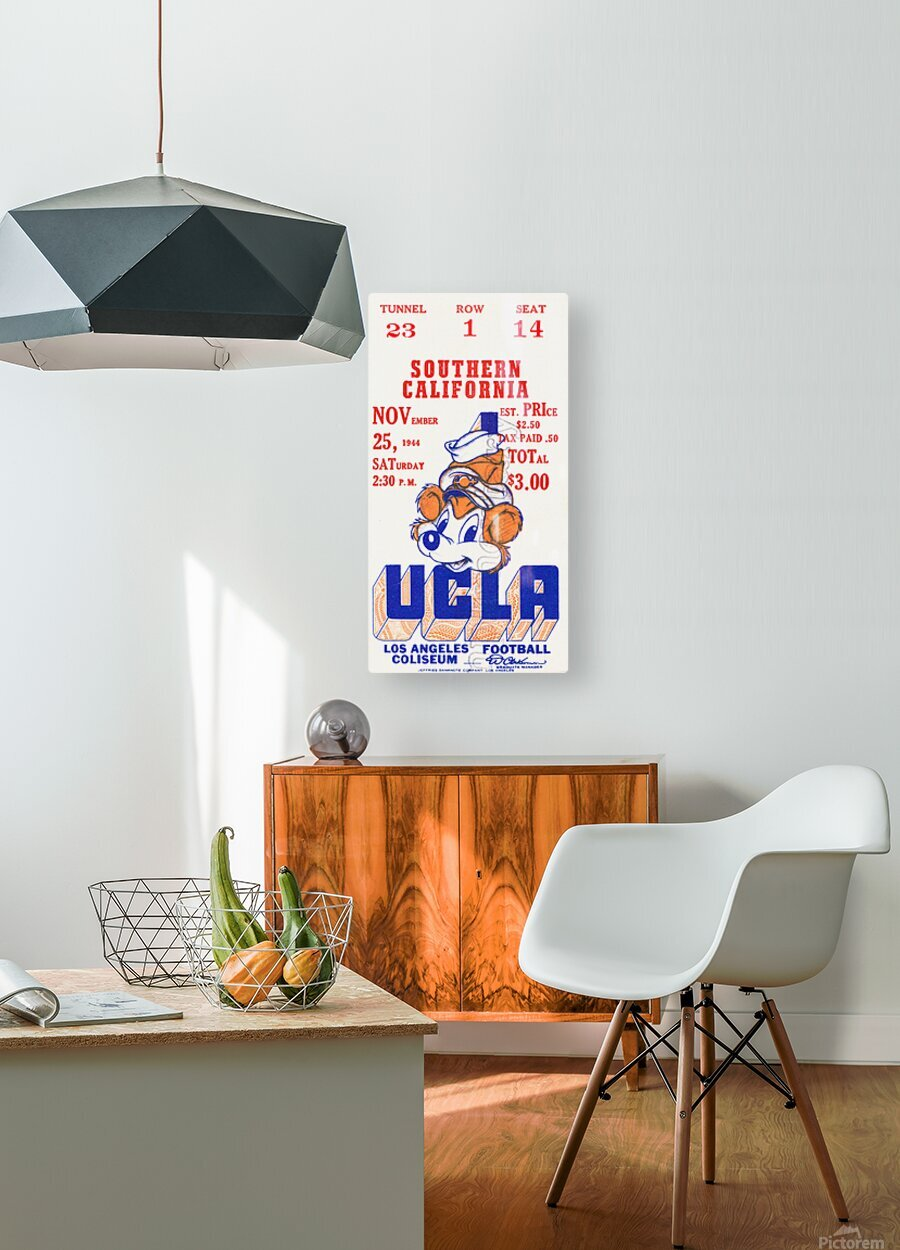 1944 USC vs. UCLA  HD Metal print with Floating Frame on Back