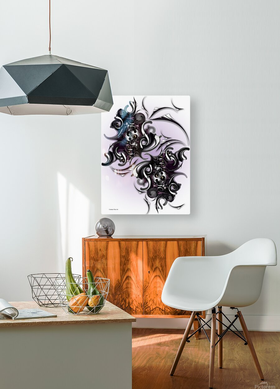 My Architectonic Illumination  HD Metal print with Floating Frame on Back