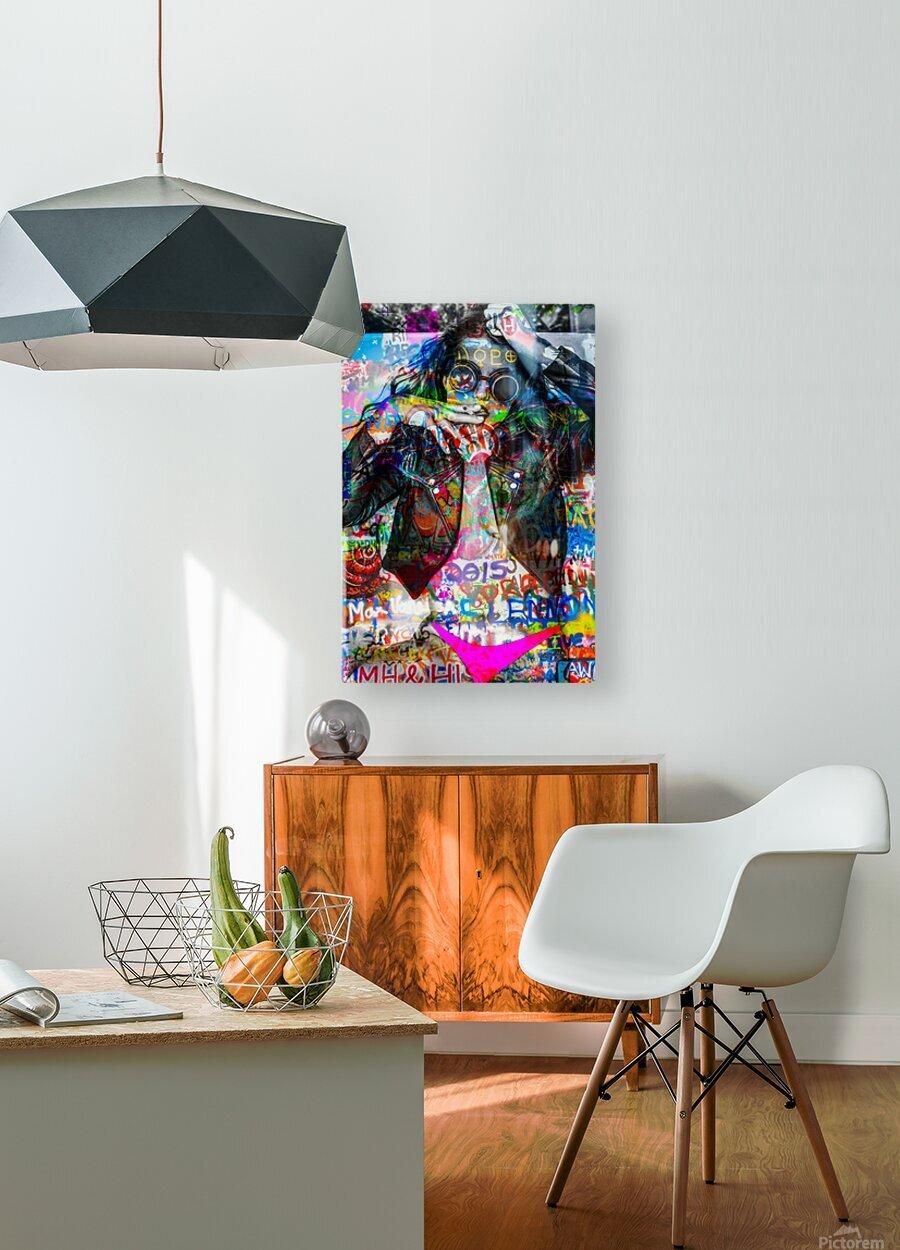 LA FEMME A LA VESTE DE CUIR   HD Metal print with Floating Frame on Back