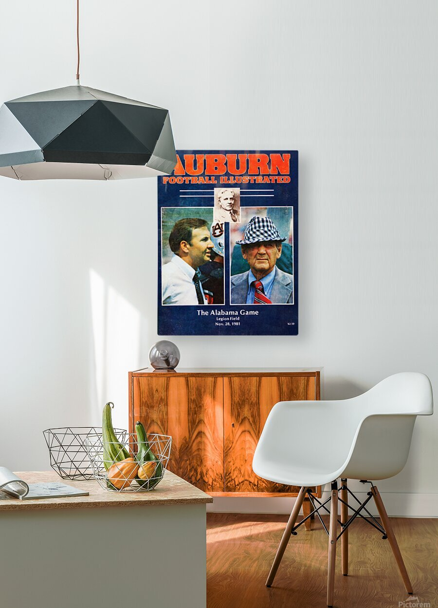 1981 Alabama vs. Auburn Program Cover  HD Metal print with Floating Frame on Back