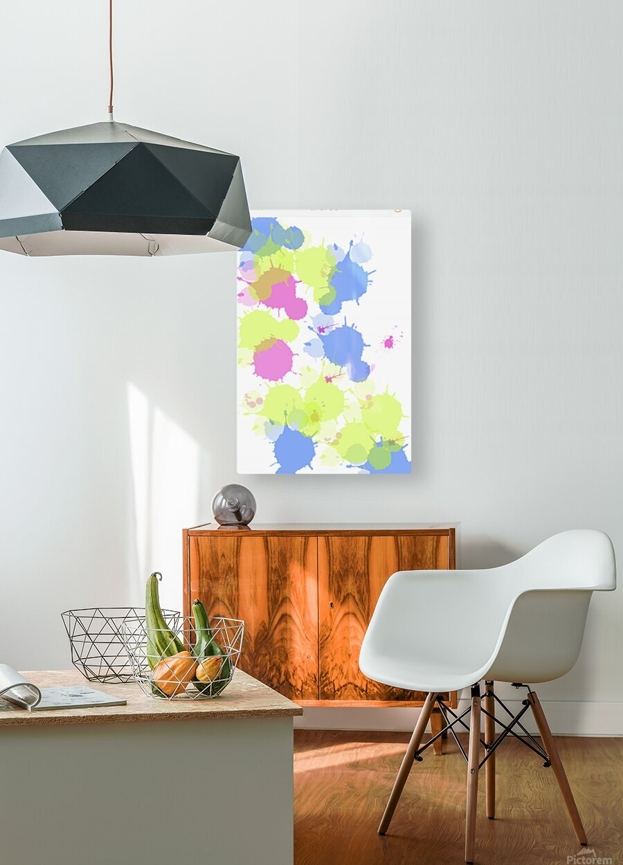 Cotton candy  HD Metal print with Floating Frame on Back
