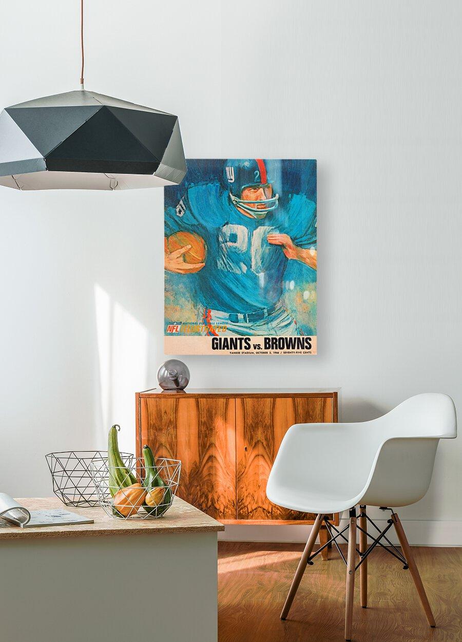 1966 New York Giants Program Cover Art  HD Metal print with Floating Frame on Back