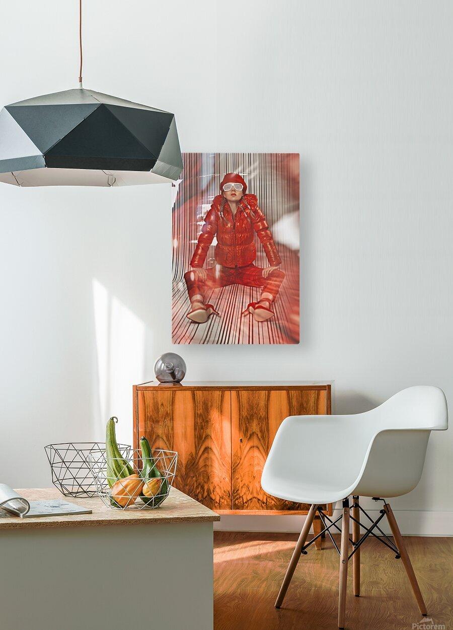 Funky Petroleum II  HD Metal print with Floating Frame on Back
