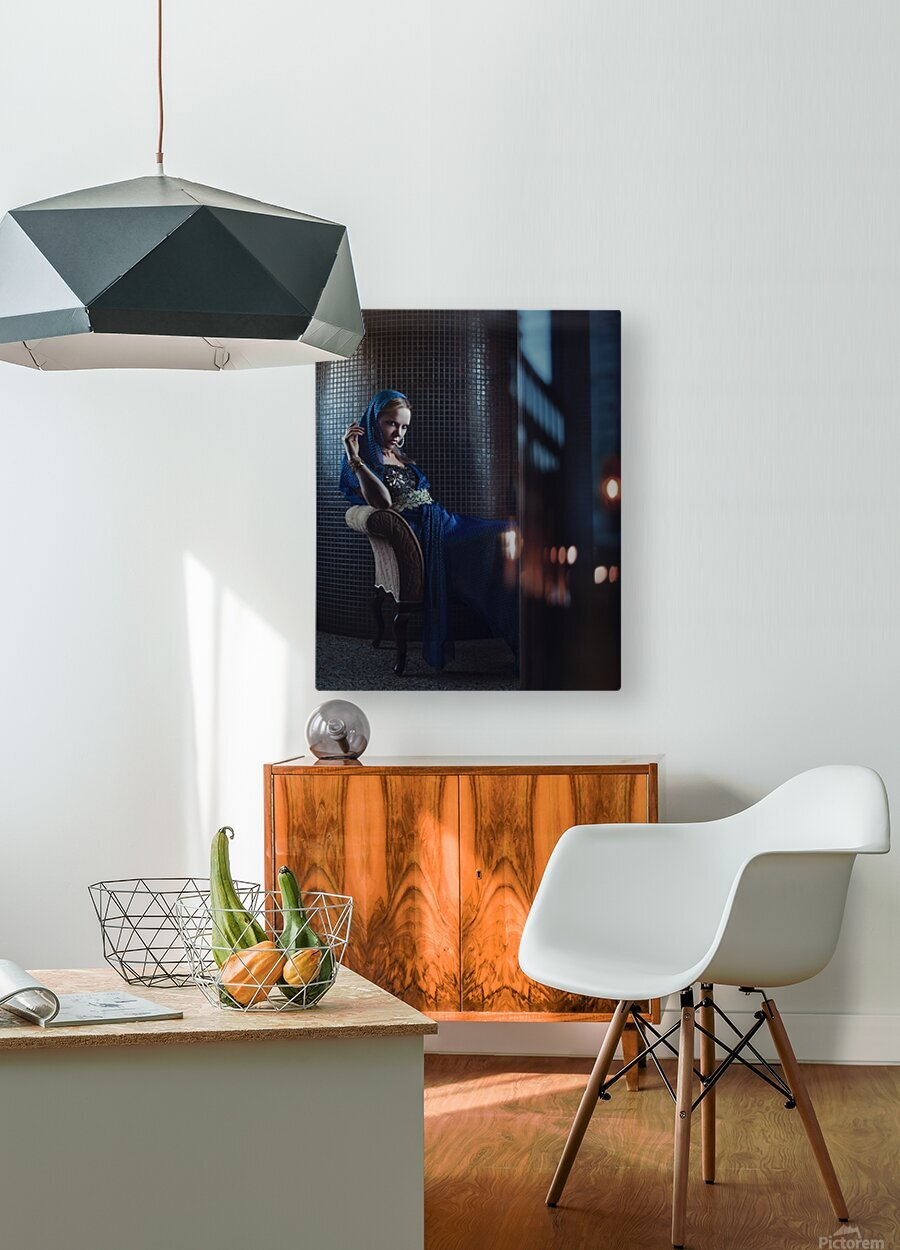 Gipsy  HD Metal print with Floating Frame on Back