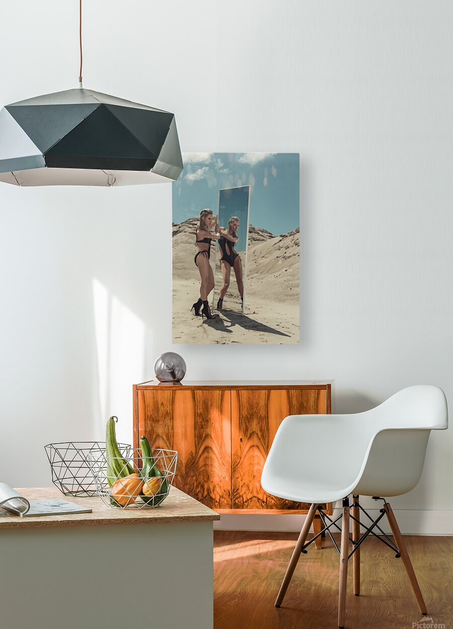 BURNING woMAN II  HD Metal print with Floating Frame on Back