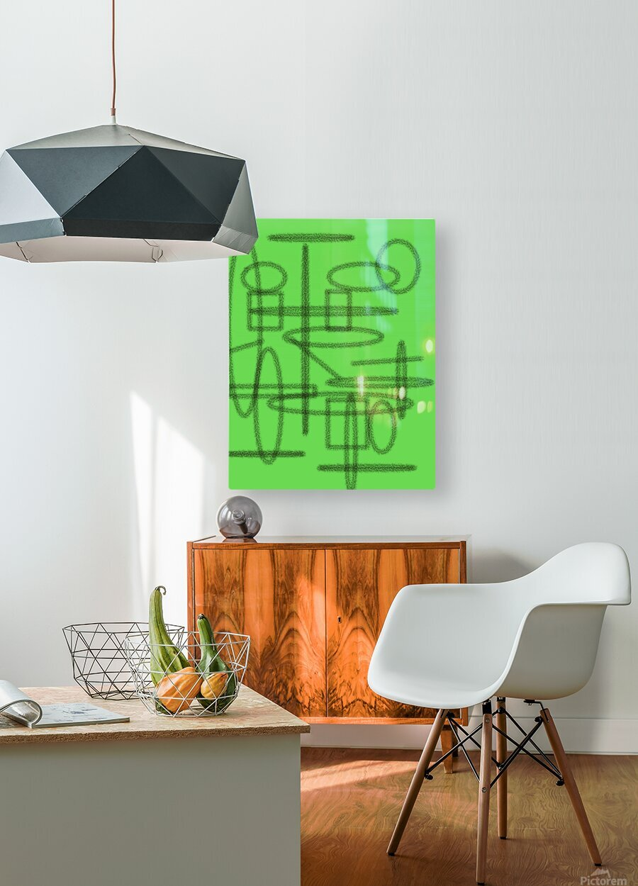 Shapes   HD Metal print with Floating Frame on Back