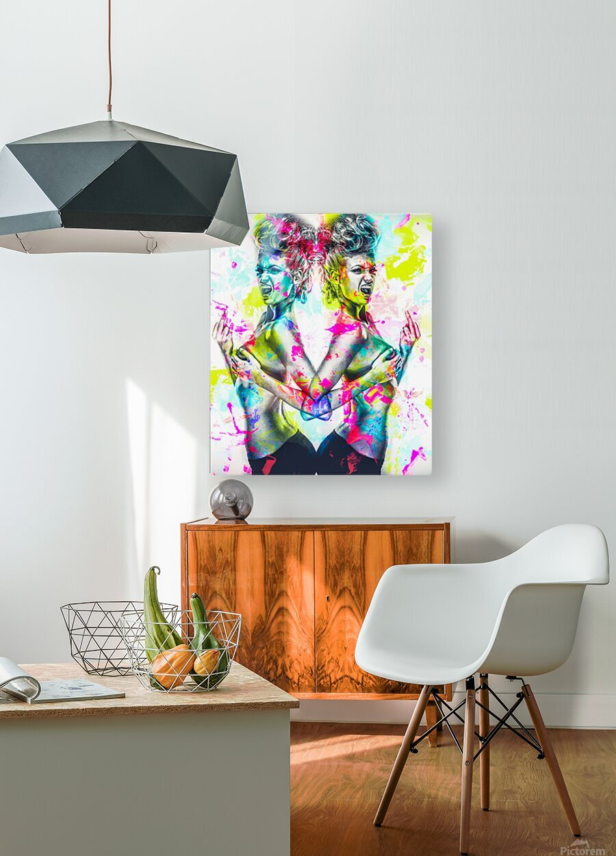 F_ck  HD Metal print with Floating Frame on Back