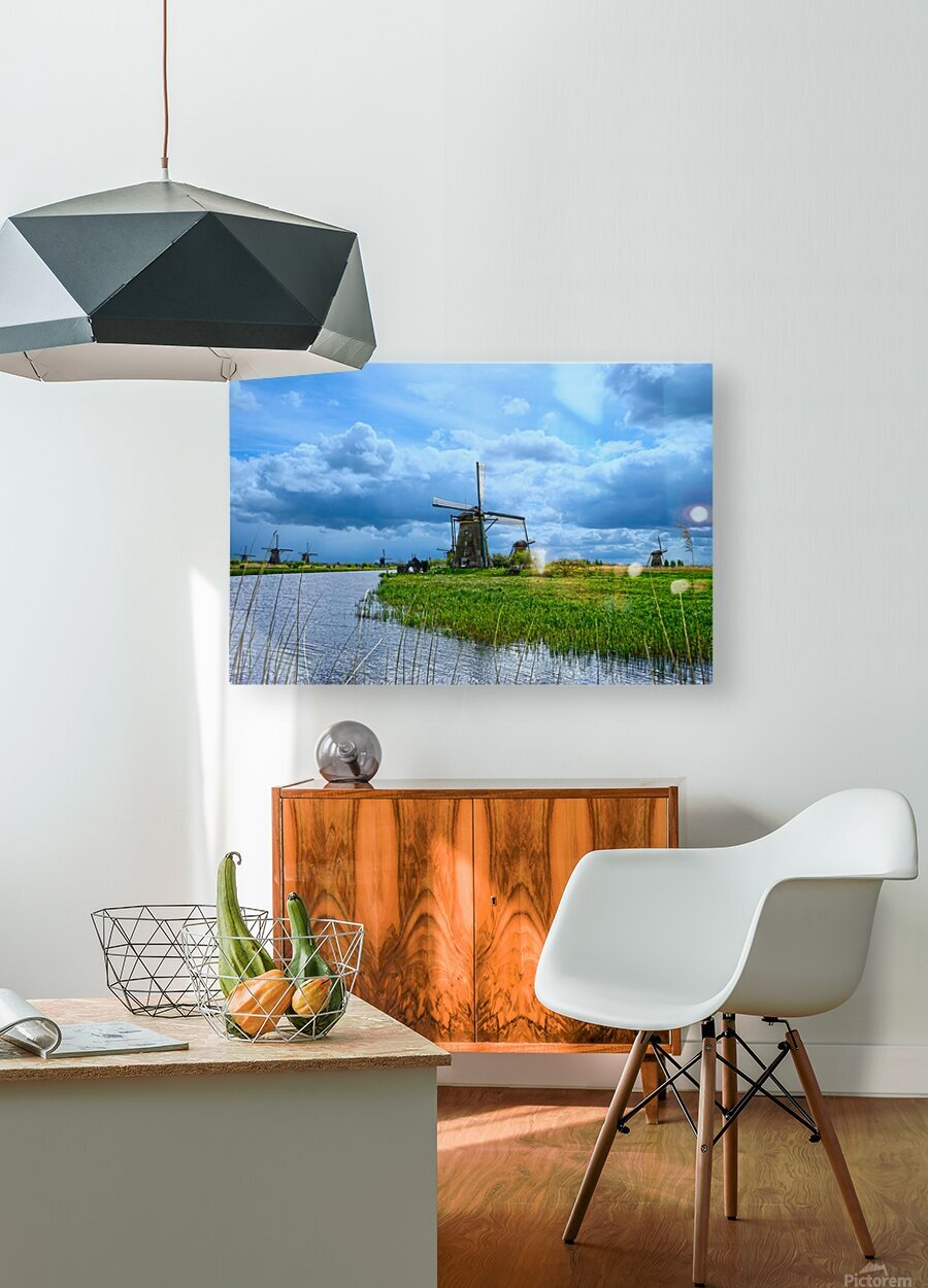 Windmills of the Netherlands 3 of 4  HD Metal print with Floating Frame on Back