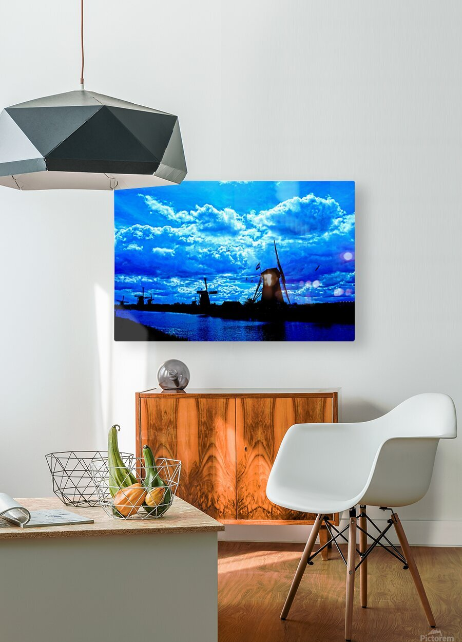 Windmills of the Netherlands 4 of 4  HD Metal print with Floating Frame on Back