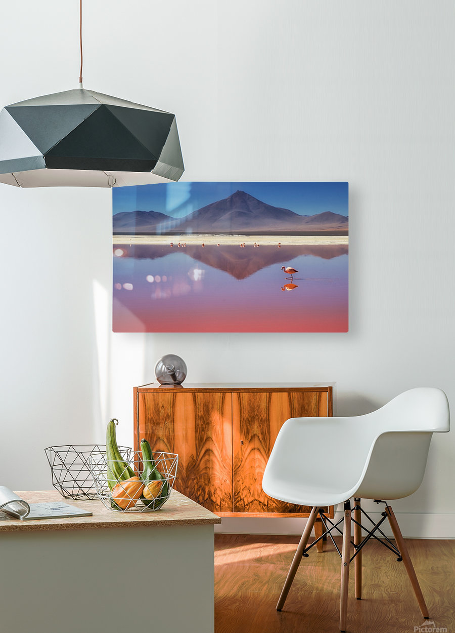 Pink Morning  HD Metal print with Floating Frame on Back