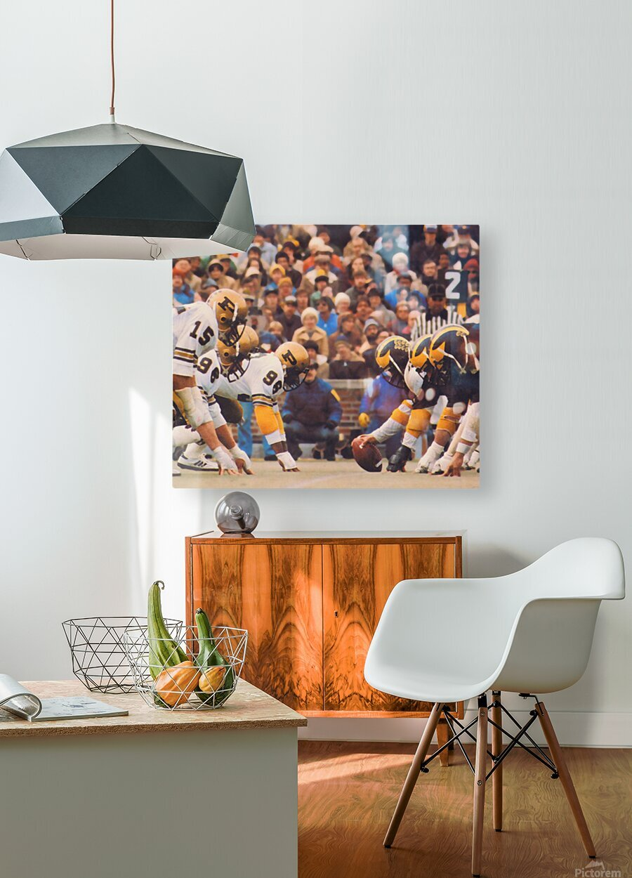 Purdue Football Art  HD Metal print with Floating Frame on Back