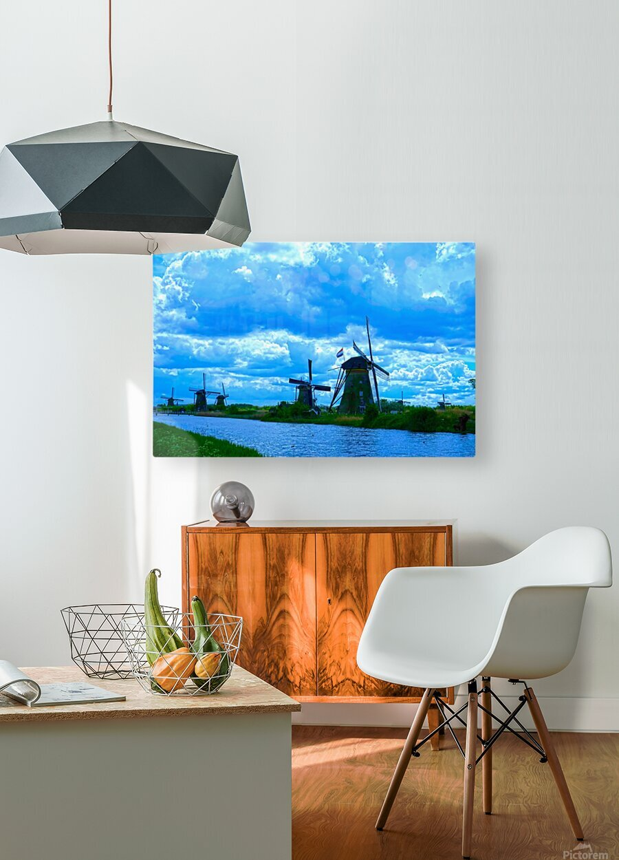 I Dreamed of Windmills  HD Metal print with Floating Frame on Back