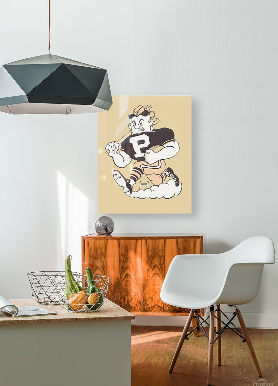 1981 Purdue Pete Art  HD Metal print with Floating Frame on Back